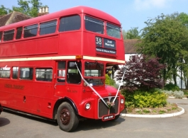 Routemaster bus for weddings in Coventry